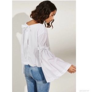FREE PEOPLE So obviously Yours Flare Sleeve Top S